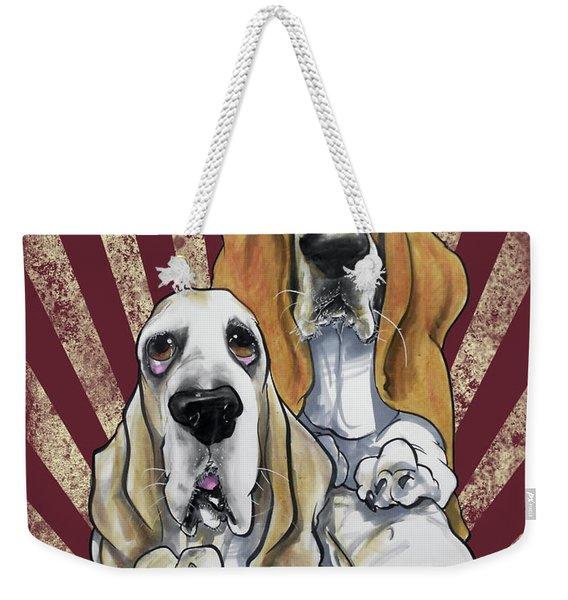 Basset Hound Revolution Weekender Tote Bag