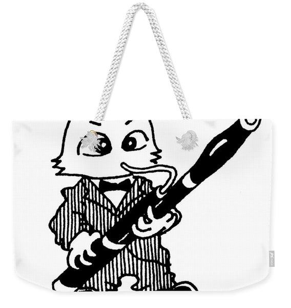 Bassoon Cat Weekender Tote Bag