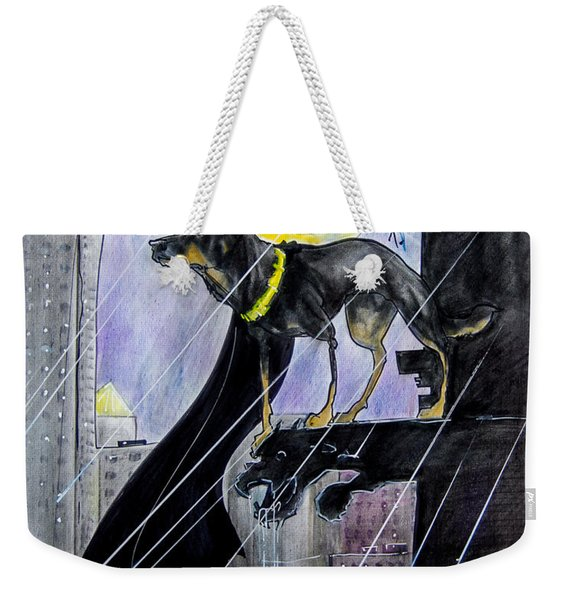 Bat-dog Caricature  Weekender Tote Bag