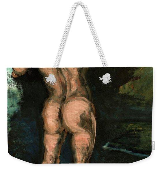 Bather And Rocks Weekender Tote Bag