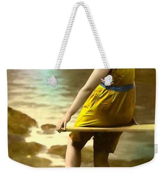 Bathing Beauty In Yellow  Bathing Suit Weekender Tote Bag