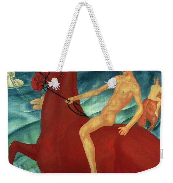 Bathing Of The Red Horse Weekender Tote Bag