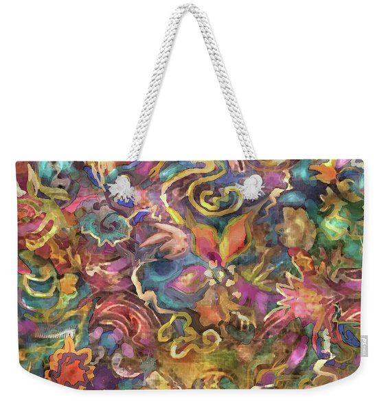 Batik Colorburst Weekender Tote Bag