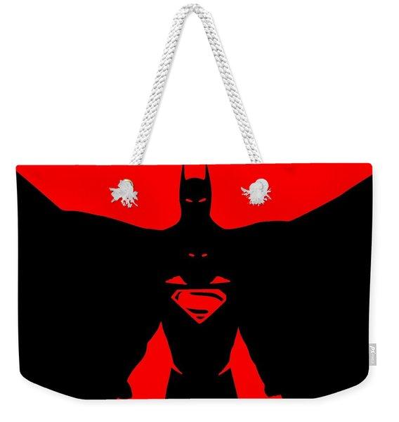 Batman/superman Weekender Tote Bag