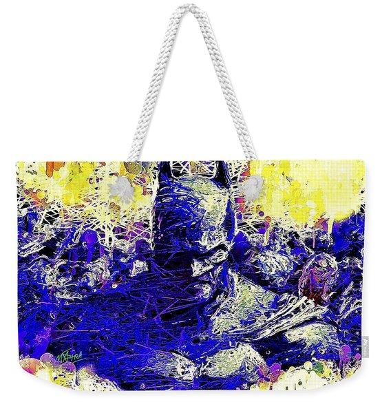 Weekender Tote Bag featuring the mixed media Batman 2 by Al Matra