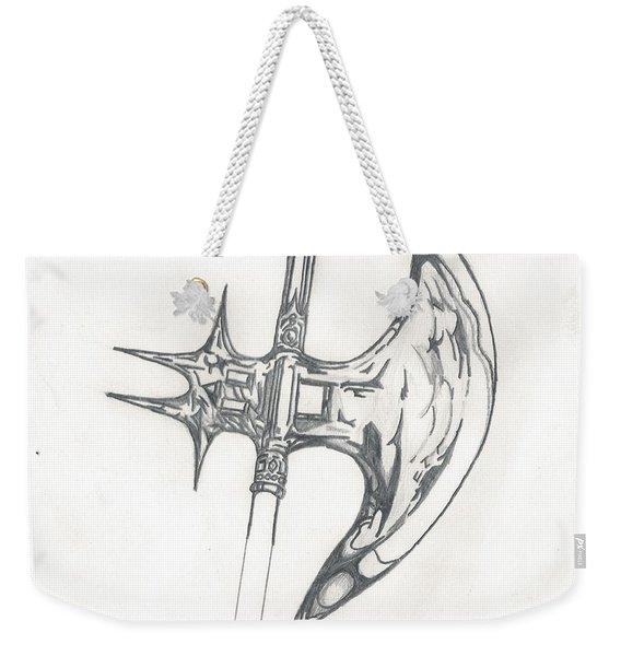 Battle Axe Weekender Tote Bag