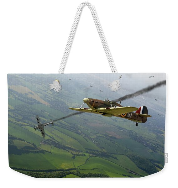 Battle Of Britain Dogfight Weekender Tote Bag