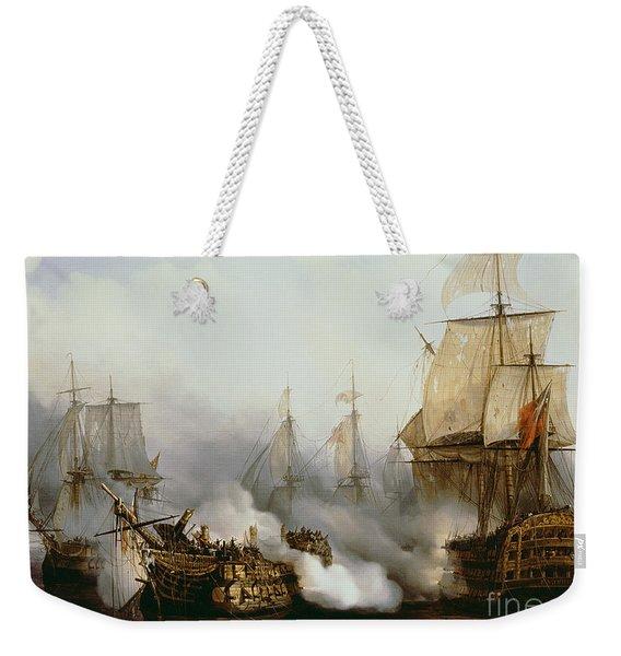 Battle Of Trafalgar Weekender Tote Bag