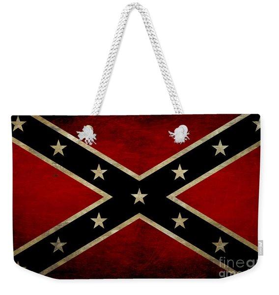 Battle Scarred Confederate Flag Weekender Tote Bag