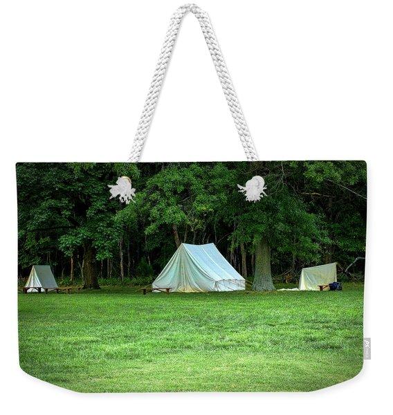 Battlefield Camp Weekender Tote Bag