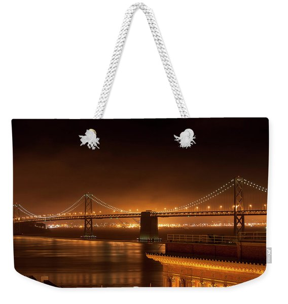 Bay Bridge At Night Weekender Tote Bag