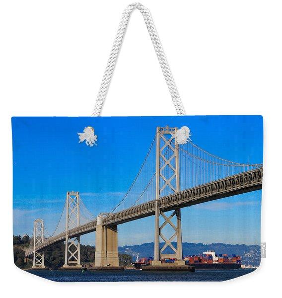 Bay Bridge With Apl Houston Weekender Tote Bag