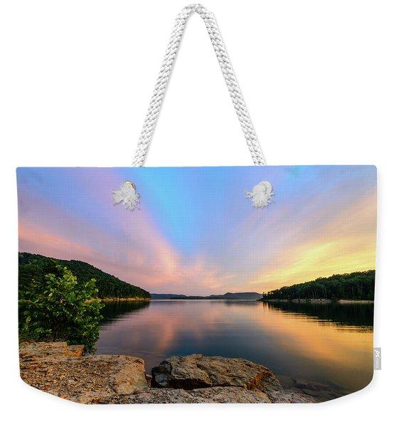 Bay Light Weekender Tote Bag