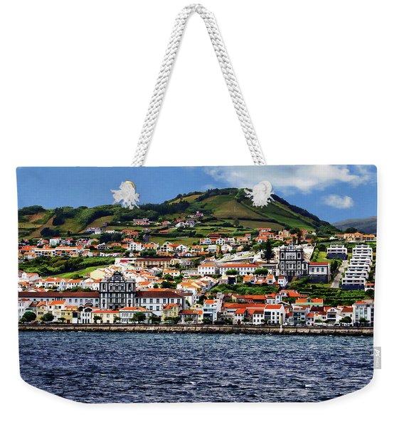 Bay Of Horta Weekender Tote Bag