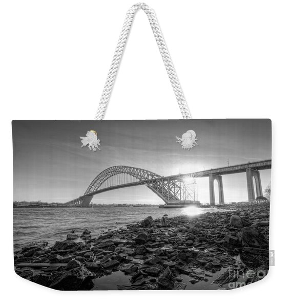 Bayonne Bridge Black And White Weekender Tote Bag