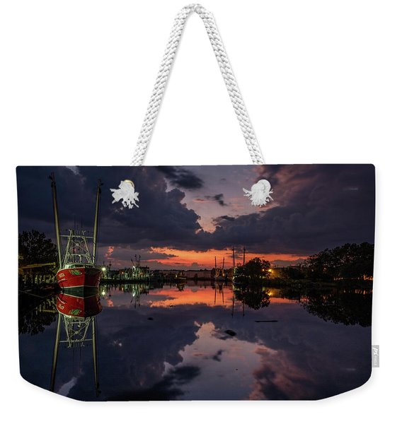 Bayou Dusk And Reflection Weekender Tote Bag