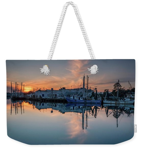 Bayou Sunset And Reflection Weekender Tote Bag