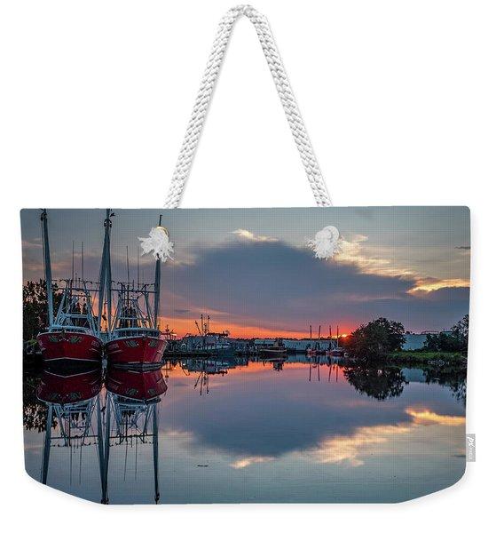 Bayou Sunset Weekender Tote Bag