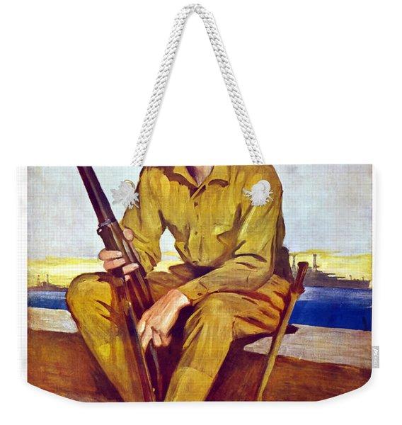 Be A Sea Soldier - Us Marine Weekender Tote Bag