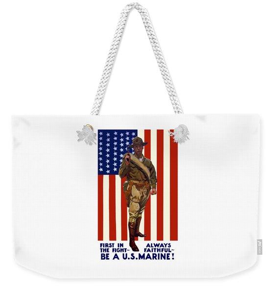 Be A Us Marine Weekender Tote Bag