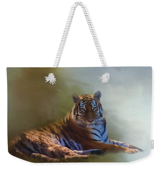 Be Calm In Your Heart - Tiger Art Weekender Tote Bag