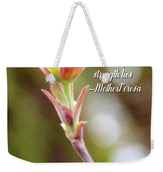 Be Faithful By Mother Teresa Weekender Tote Bag