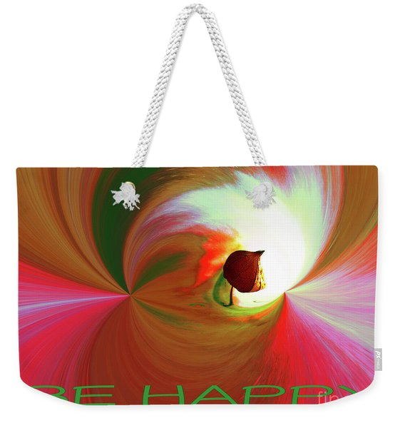 Be Happy, Red-rose With Physalis Weekender Tote Bag