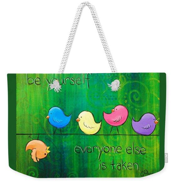 Be Yourself - Birds Weekender Tote Bag