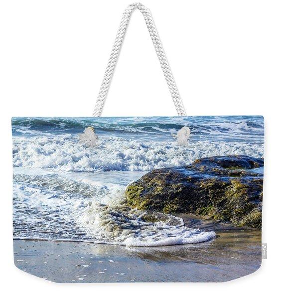 Wave Around A Rock Weekender Tote Bag