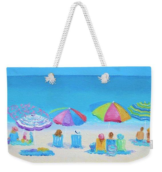 Beach Art - A Golden Day Weekender Tote Bag