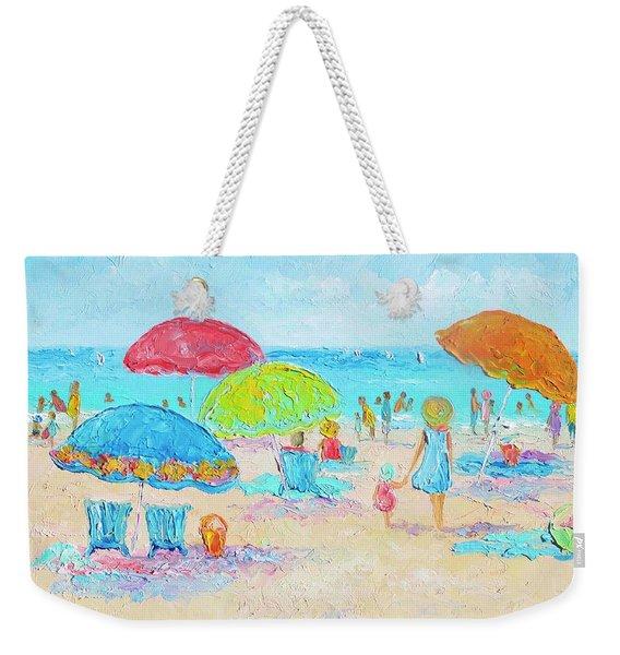 Beach Art - Relax Weekender Tote Bag
