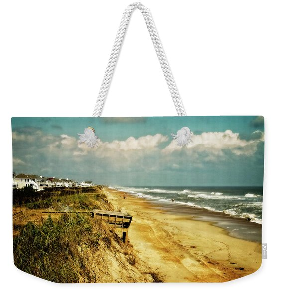 Beach At Corolla Weekender Tote Bag