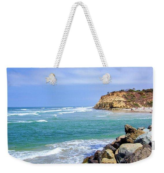 Beach At Del Mar, California Weekender Tote Bag