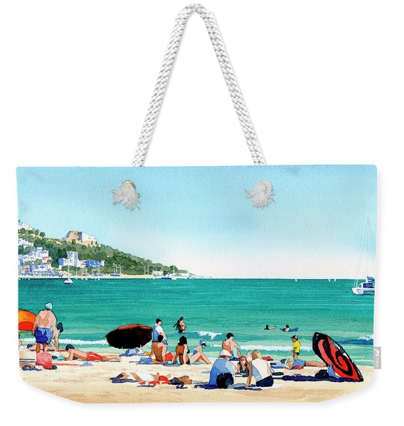 Beach At Roses, Spain Weekender Tote Bag