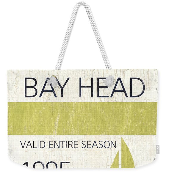 Beach Badge Bay Head Weekender Tote Bag