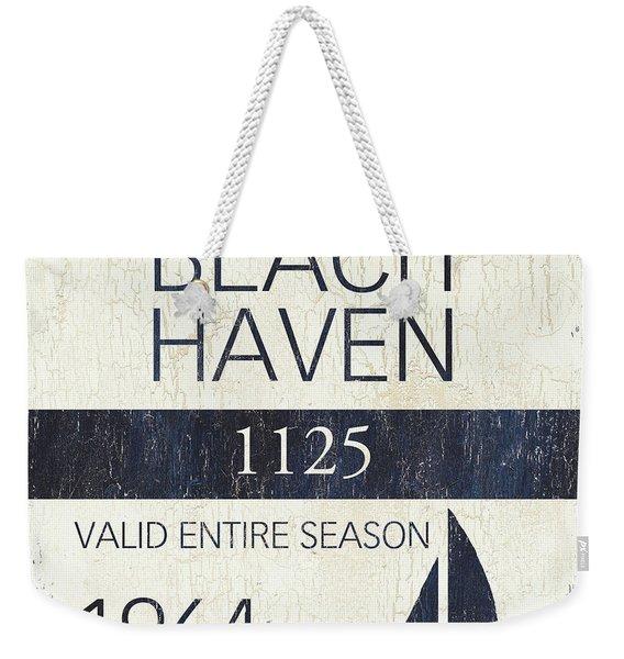 Beach Badge Beach Haven Weekender Tote Bag