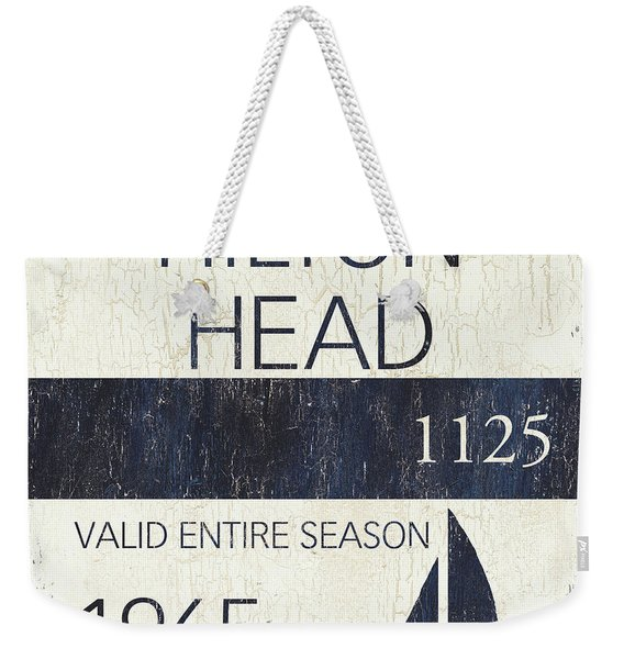 Beach Badge Hilton Head Weekender Tote Bag