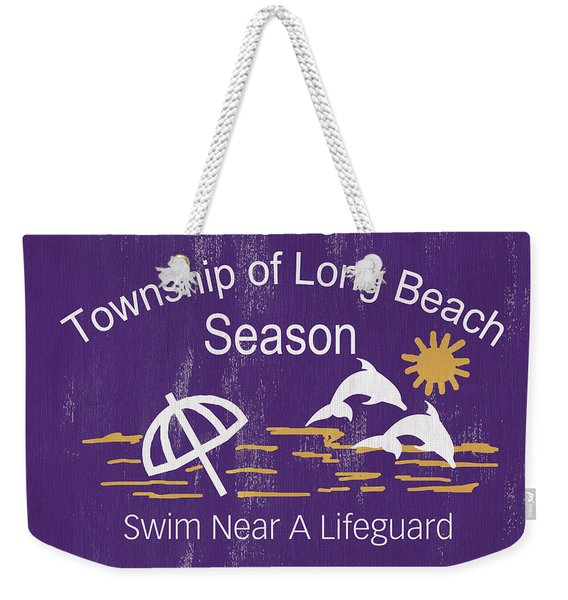Beach Badge Long Beach Weekender Tote Bag