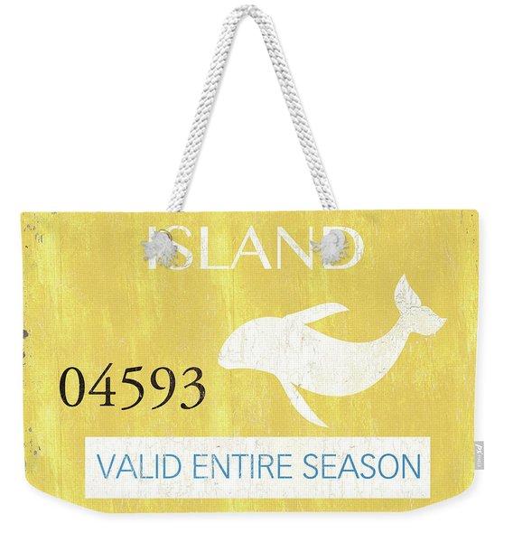 Beach Badge Long Beach Island 2 Weekender Tote Bag
