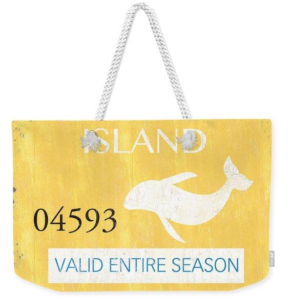 Beach Badge Long Beach Island Weekender Tote Bag