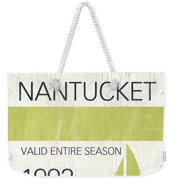 Beach Badge Nantucket Weekender Tote Bag