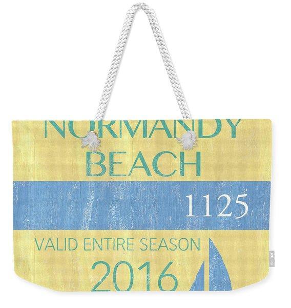 Beach Badge Normandy Beach 2 Weekender Tote Bag