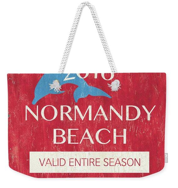 Beach Badge Normandy Beach Weekender Tote Bag