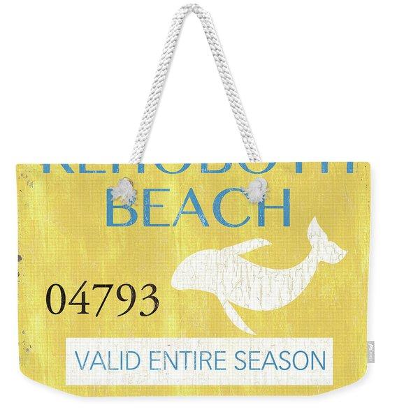 Beach Badge Rehoboth Beach Weekender Tote Bag