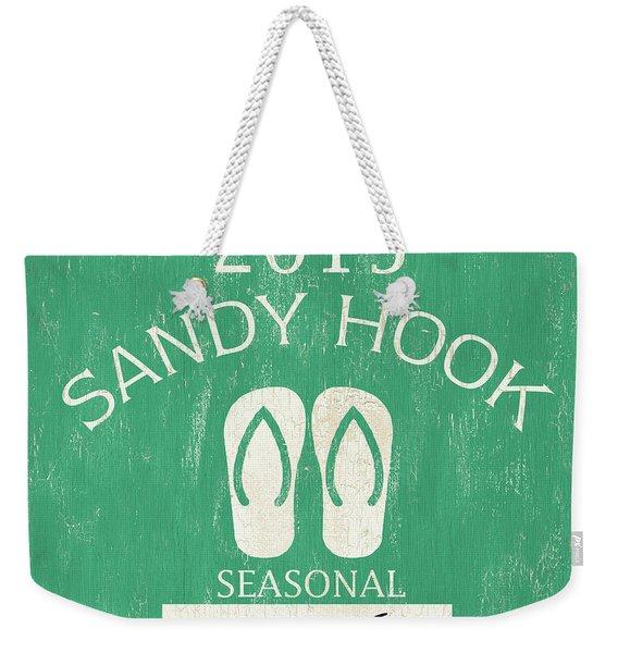 Beach Badge Sandy Hook Weekender Tote Bag