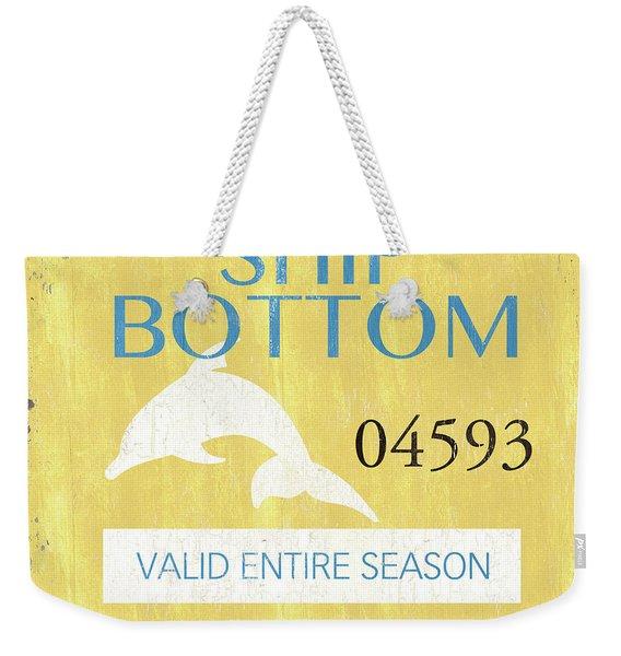 Beach Badge Ship Bottom Weekender Tote Bag