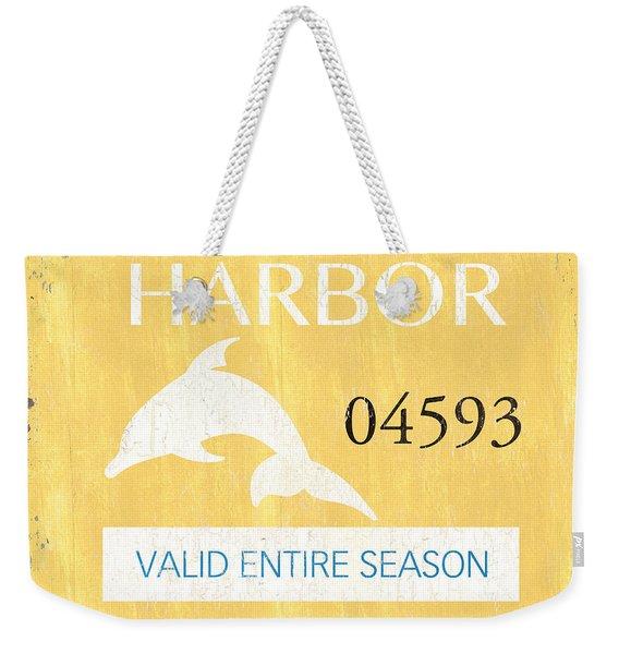 Beach Badge Stone Harbor Weekender Tote Bag