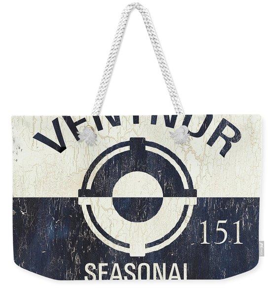 Beach Badge Ventnor Weekender Tote Bag
