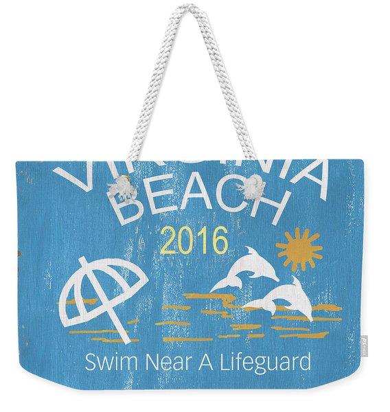 Beach Badge Virginia Beach Weekender Tote Bag