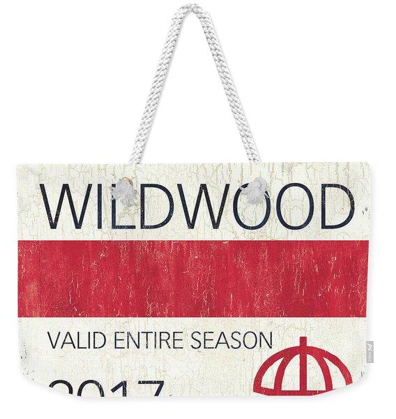Beach Badge Wildwood 2 Weekender Tote Bag